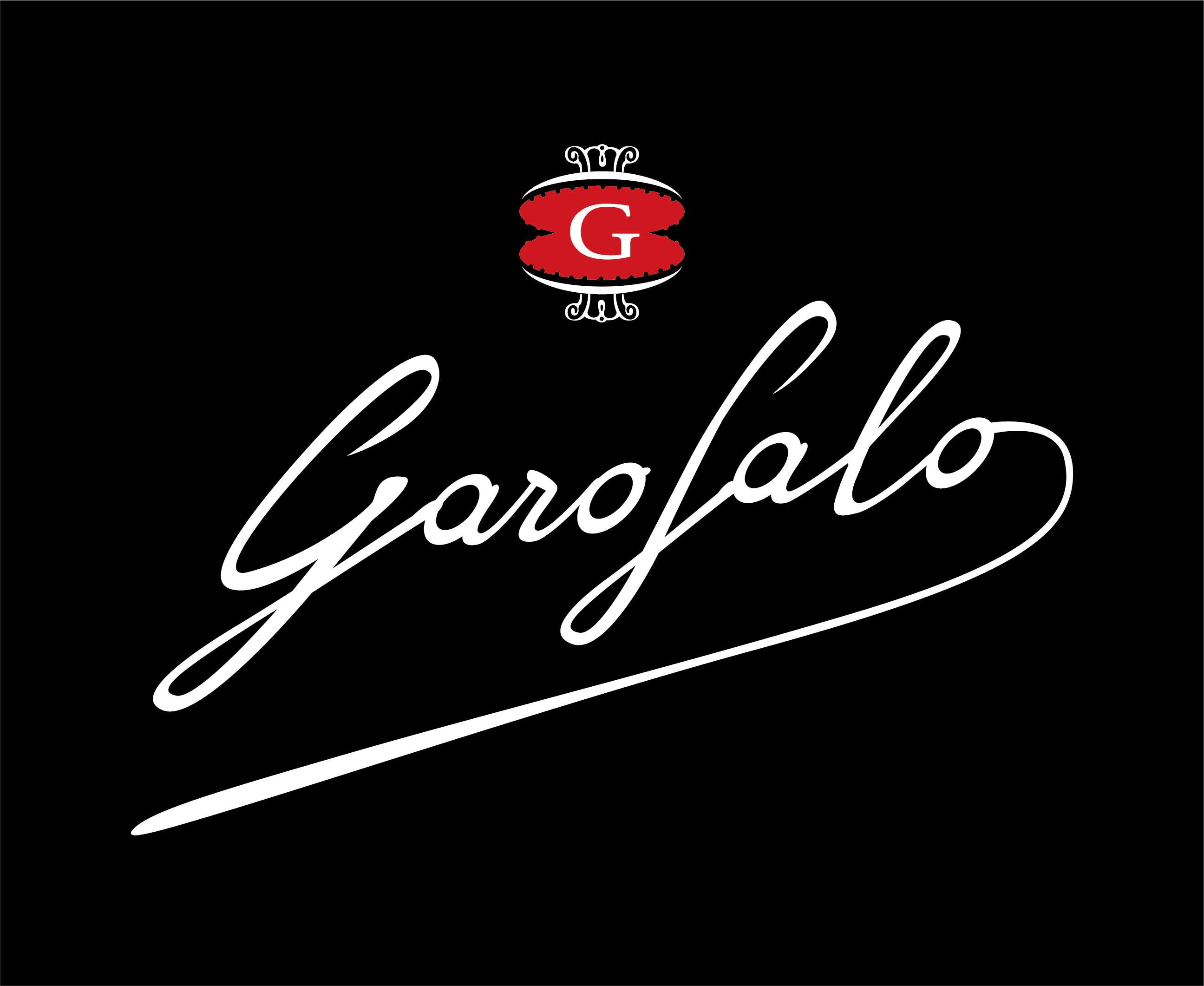 Garofalo Signature Logo White on black transparent