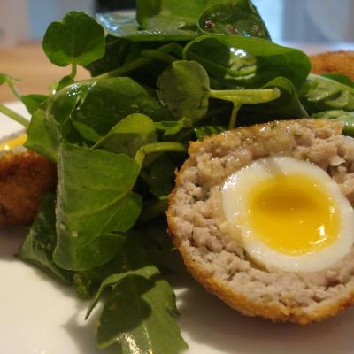 Richard Fox's recipe for Quails' black pudding and pancetta Scotch eggs